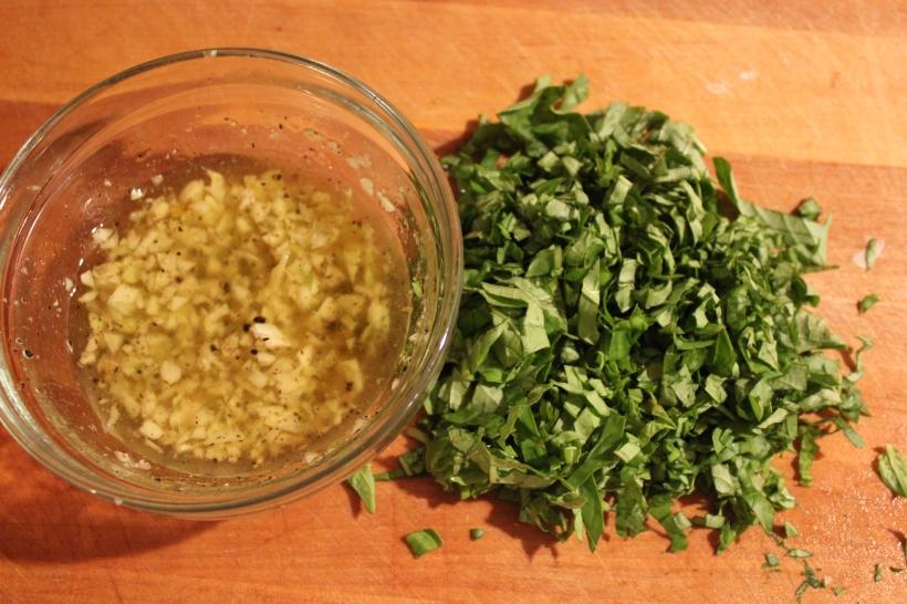 garlic and basil