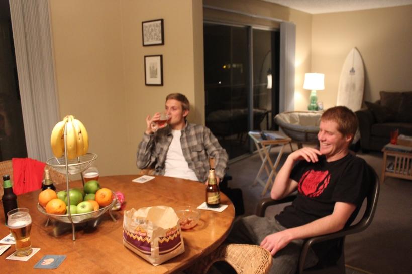 Miles & Jason at Taco Night