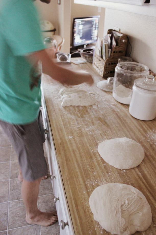 Form each third into a dough ball