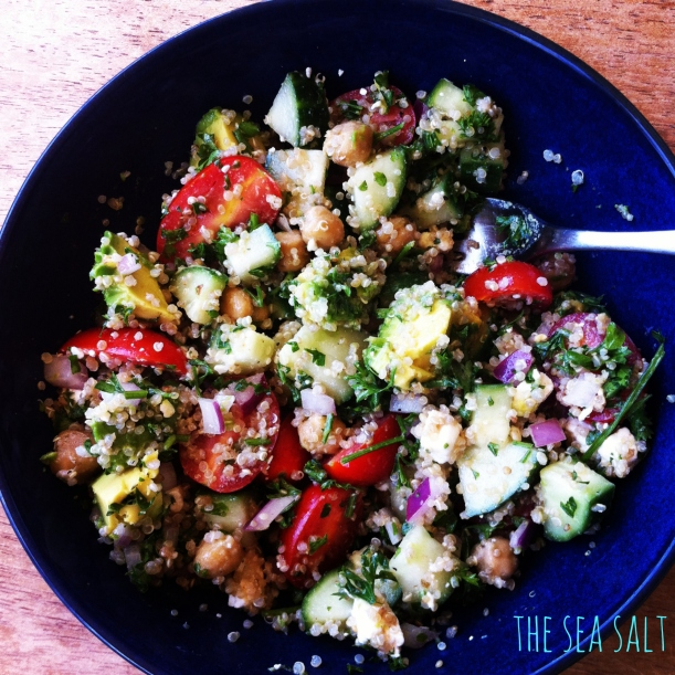 Post-Surf Quinoa Bowl with Spiced Chickpeas and Avocado
