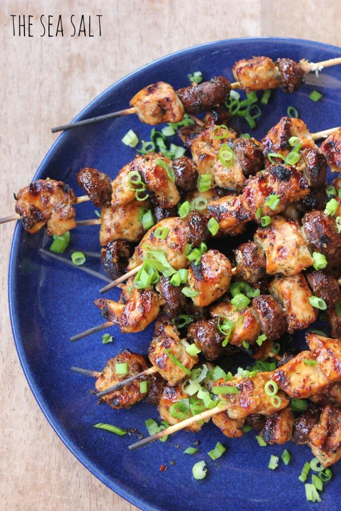 Asian Chicken Skewers with Hoisin Glaze