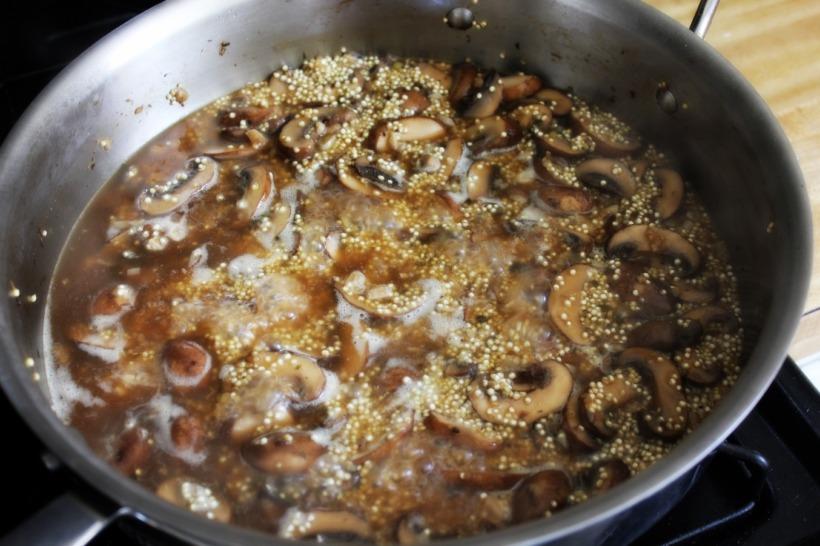 One-Pot Quinoa and Mushrooms