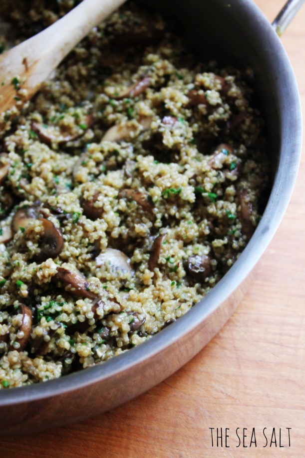 One-Pot Quinoa and Mushrooms
