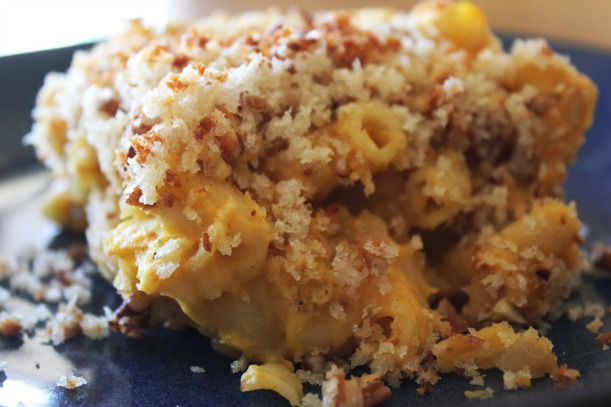 Macaroni & Butternut Squash with Crispy Pecan Topping