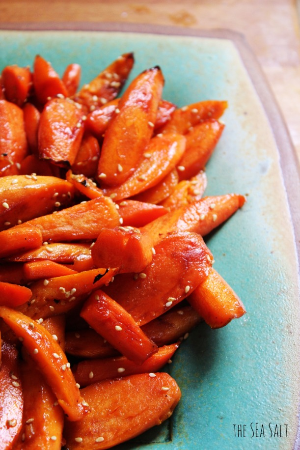 Sweet & Spicy Sesame Carrots