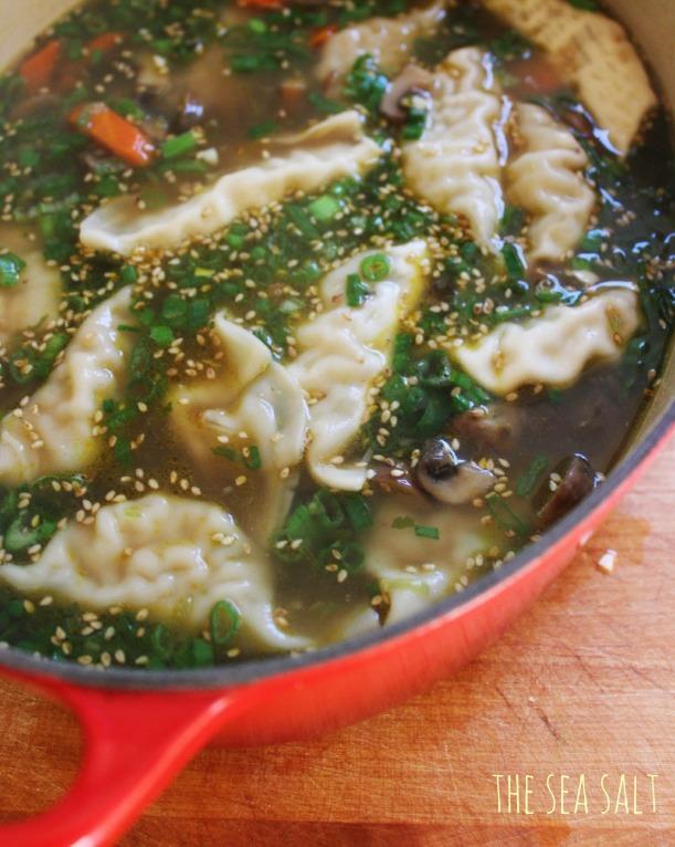 Easy Asian Potsticker Soup
