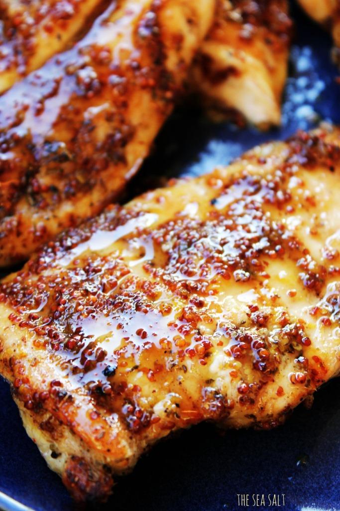 Grilled Chicken with Lemon Honey Mustard Glaze